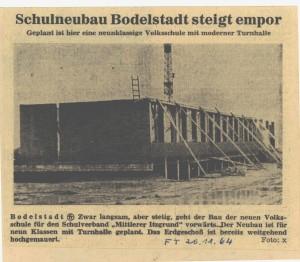 Zeitungsartikel Fränkischer Tag 1964